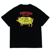 PORKCHOP - PORK BACK S/S TEE (BLACK)