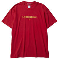 LIBERAIDERS - HAMMER AND SICKLE LOGO TEE (レッド)