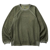 LIBERAIDERS - LOCATION COORDINATES CREW NECK (オリーブ)
