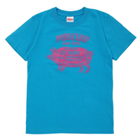 PORKCHOP - PORK FRONT TEE for Kids (ブルー)