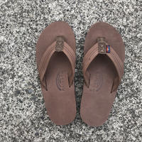 "RAINBOW SANDALS - Premier Leather ""Double Midsole"" (EXPR エスプレッソ)"