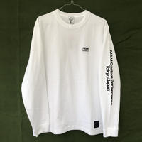 M&M - PRINT L/S TEE 20-MT-025 (WHITE)