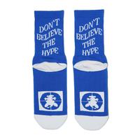 SURF SKATE CAMP - DON'T BELIVE THE HYPE SOCKS (BLUE)