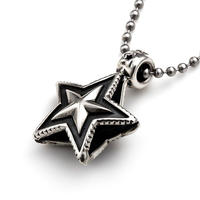 CODY SANDERSON - Double Sided Faceted star Bead Pendant
