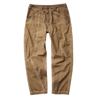 LIBERAIDERS - 3D SEAM TROUSERS (BROWN)