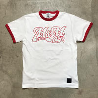 M&M - PRINT S/S TEE MT-019 (WHITE/RED)