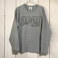 M&M - PRINT L/S TEE 20MT-024 (M.GRAY)