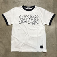 M&M - PRINT S/S TEE MT-019 (WHITE/NAVY)