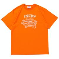 PORKCHOP - PORK FRONT S/S TEE (ORANGE)