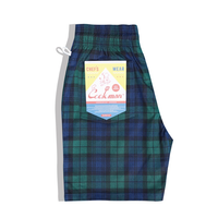 COOKMAN - Chef Short Pants 「Black Watch check」