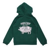 PORKCHOP - PORK BACK HOODIE for Kids (GREEN)
