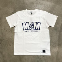 M&M - PRINT S/S TEE MT-018 (WHITE)