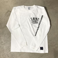 M&M - PRINT L/S TEE 005 (WHITE)