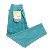 COOKMAN - Chef Pants 「Corduroy」 Turquoise Blue