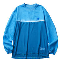 LIBERAIDERS - OVERDYED MESH L/S TEE (BLUE)
