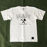 M&M - PRINT S/S T-SHIRT 21-MT-016 (WHITE)