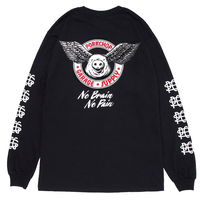 PORKCHOP - WING PORK L/S TEE/BLACK