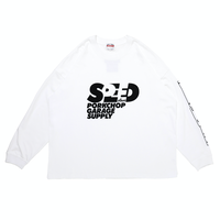 PORKCHOP - SPEED SLAVE L/S TEE/WHITE