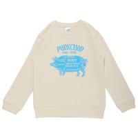 PORKCHOP - PORK FRONT SWEAT for Kids (IVORY)