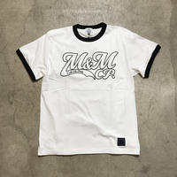 M&M - PRINT S/S TEE MT-019 (WHITE/BLACK)