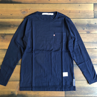 BLUE SAKURA -STEP LONG SLEEVE T-SHIRT 【ネイビー】