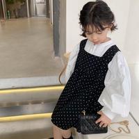 【80-150cm】DRESS ドット柄ノースリーブ ワンピース