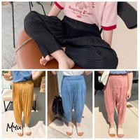 【80-150cm】Pleats Relax Tapered Pants プリーツリラックステーパードパンツ
