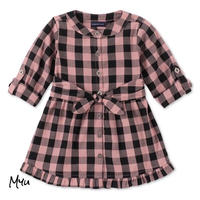 受注発注🇺🇸【95-125cn】Calvin Klein Cotton plaid flannel dress