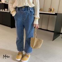 【80-150cm】Stretch Straight Jeans ストレッチ ストレート ジーンズ