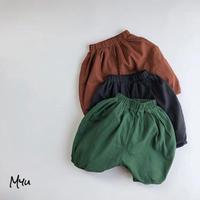 【80-130cm】Cotton Linen Pumpkin Pants コットンリネン パンプキンパンツ