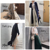 受注発注🇰🇷【LADIES】Side slit long cardigan