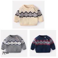 受注発注🇰🇷【66〜100cm】Nordic boa knit