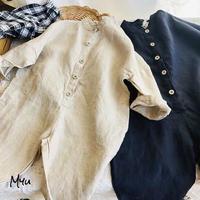 受注発注🇰🇷【90-140cm】Front Button Linen Jumpsuit 前ボタン リネン ジャンプスーツ