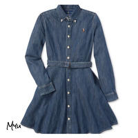 受注発注【130〜160cm】Polo Ralph Lauren Denim cotton shirtdress