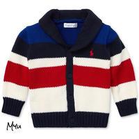 受注発注【50〜90cm】Polo Ralph Lauren Striped shawl cardigan