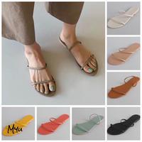 【LADIES】Double Strap Flat Sandal ダブルストラップ ぺたんこ サンダル