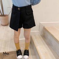 【80-150cm】Solid Short Pants ショートパンツ