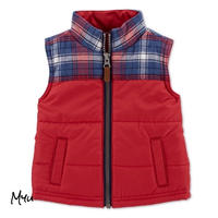 予約商品🇺🇸【80-90cm】carter's plaid zip-up vest