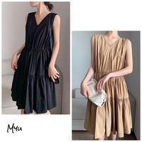 【LADIES】 Tiered Dress ティアード ワンピース