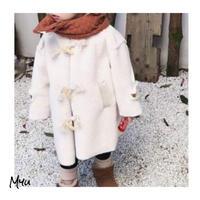 受注発注【90〜130cm】Ram wool duffle coat