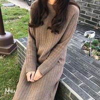 【LADIES】KNIT DRESS シンプルニットワンピース
