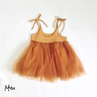 【73-90cm】Side Zip Tulle Dress サイドジップチュールワンピース
