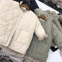 受注発注🇰🇷【90-130cm】Back Boa Collarless Coat 裏ボアノーカラーコート