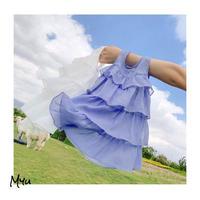 受注発注【73〜130cm】Chiffon frill  dress