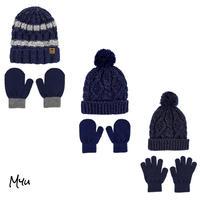 受注発注🇺🇸【Baby〜Kids】carter's 2-Piece glitter knit hat&mitten(glove)set