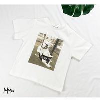 受注発注【90〜130cm】Bulldog T-shirt