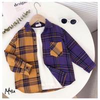 受注発注【110〜150cm】Check shirt
