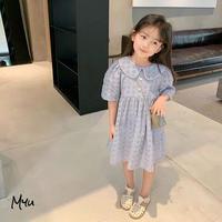 【80-150cm】Round Collar Cotton Lace Dress 丸襟コットンレースワンピース