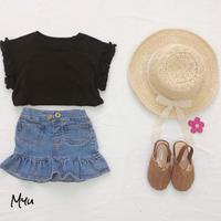 【80-120cm】Frill Denim Skirt フリルデニムスカート
