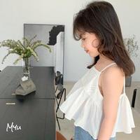 【90-150cm】Cotton Lace Peplum Camisole コットンレース ペプラム キャミソール